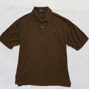 🔴3/$20 Polo Ralph Lauren 2XLT Brown Golf Shirt